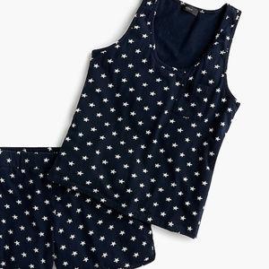 J.crew Womens Short-Sleeve Cotton Pajama Set  Med